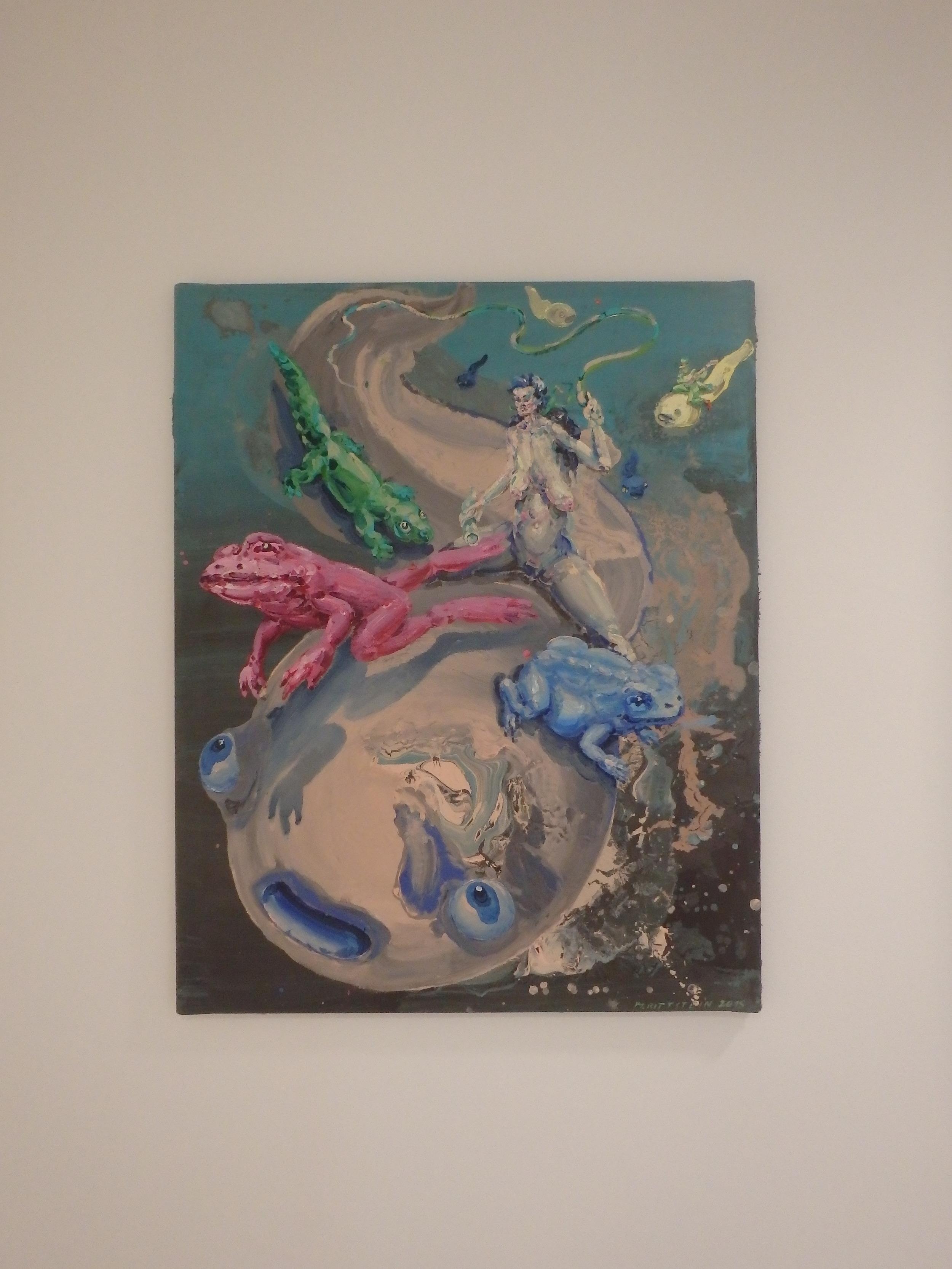 Michael Rittstein, Skoro u dna (na dně), 2015, plátno, akryl, 80 x 100 cm