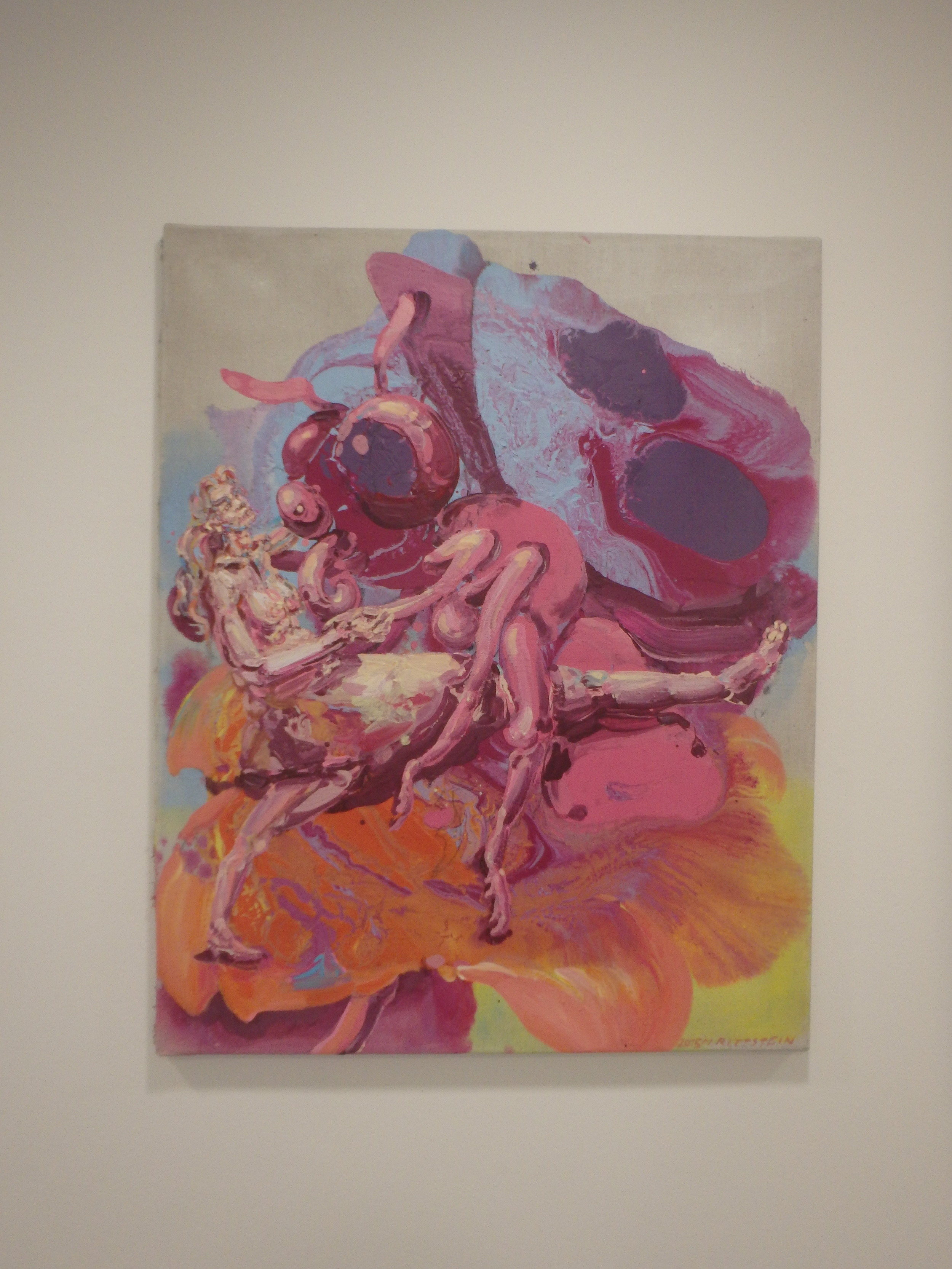 Michael Rittstein, Okvětní tanec, 2015, plátno, akryl, 80 x 100 cm