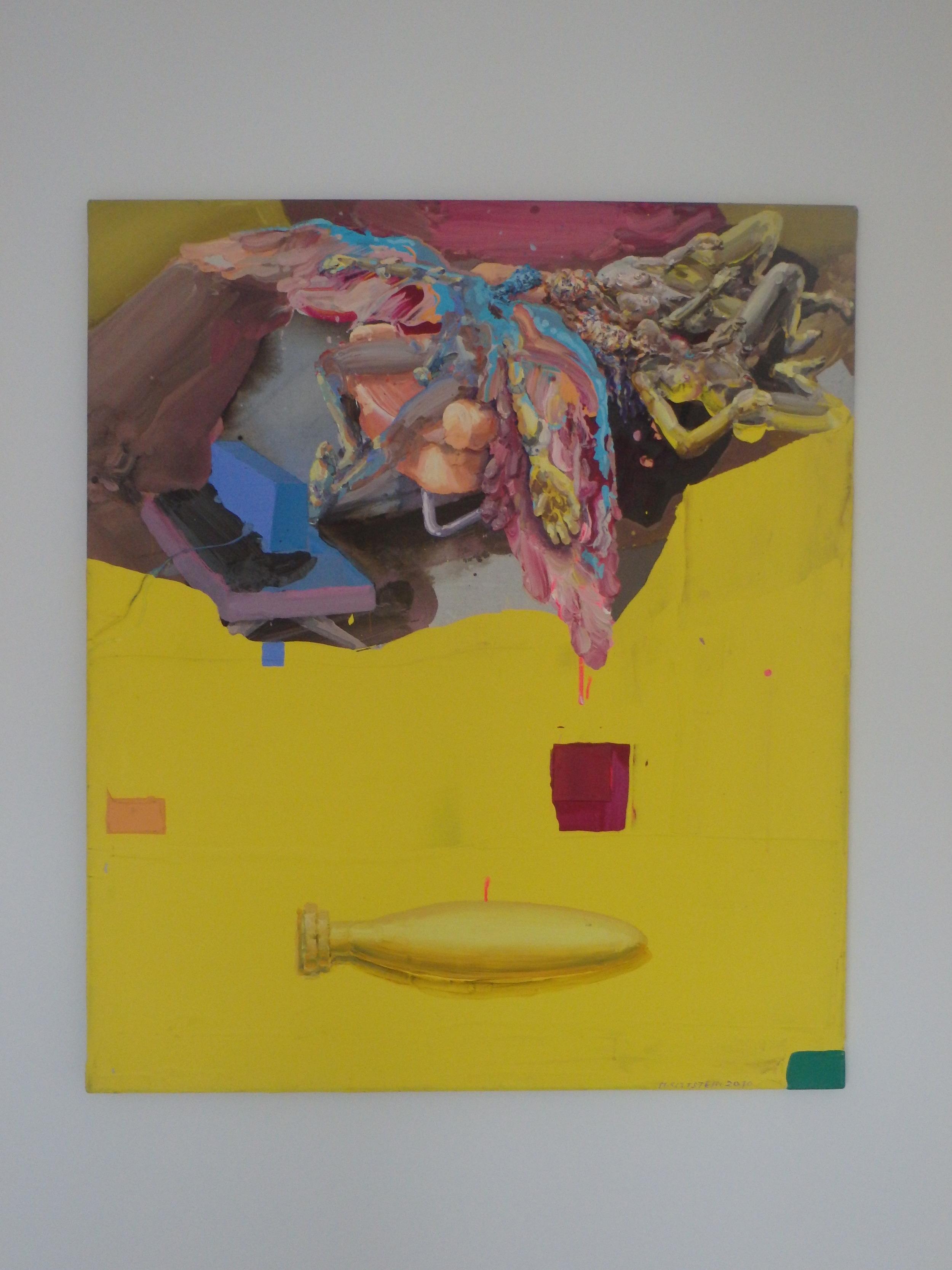 Michael Rittstein, Cosi ve zdi (Bombarďák), 2010, plátno, akryl, 120 x 140 cm