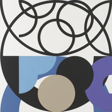 40.Kruhy a půlkruhy, dvě dimenze,1989, 90x90.JPG