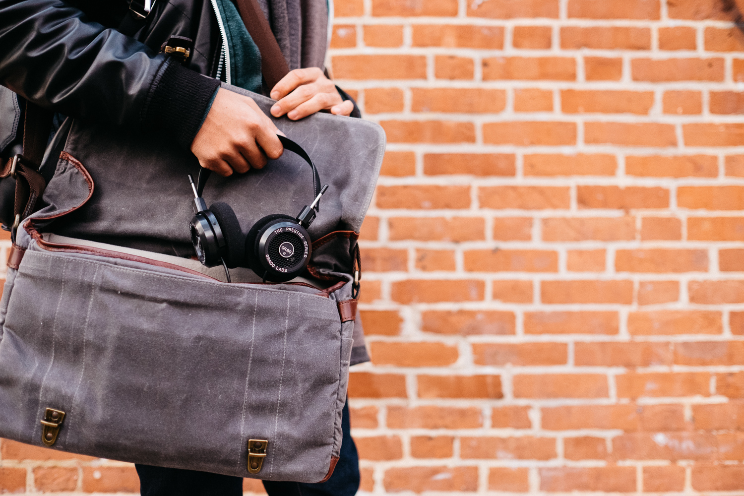 Grado SR80e Headphones ONA Bag Williamsburg Shoot