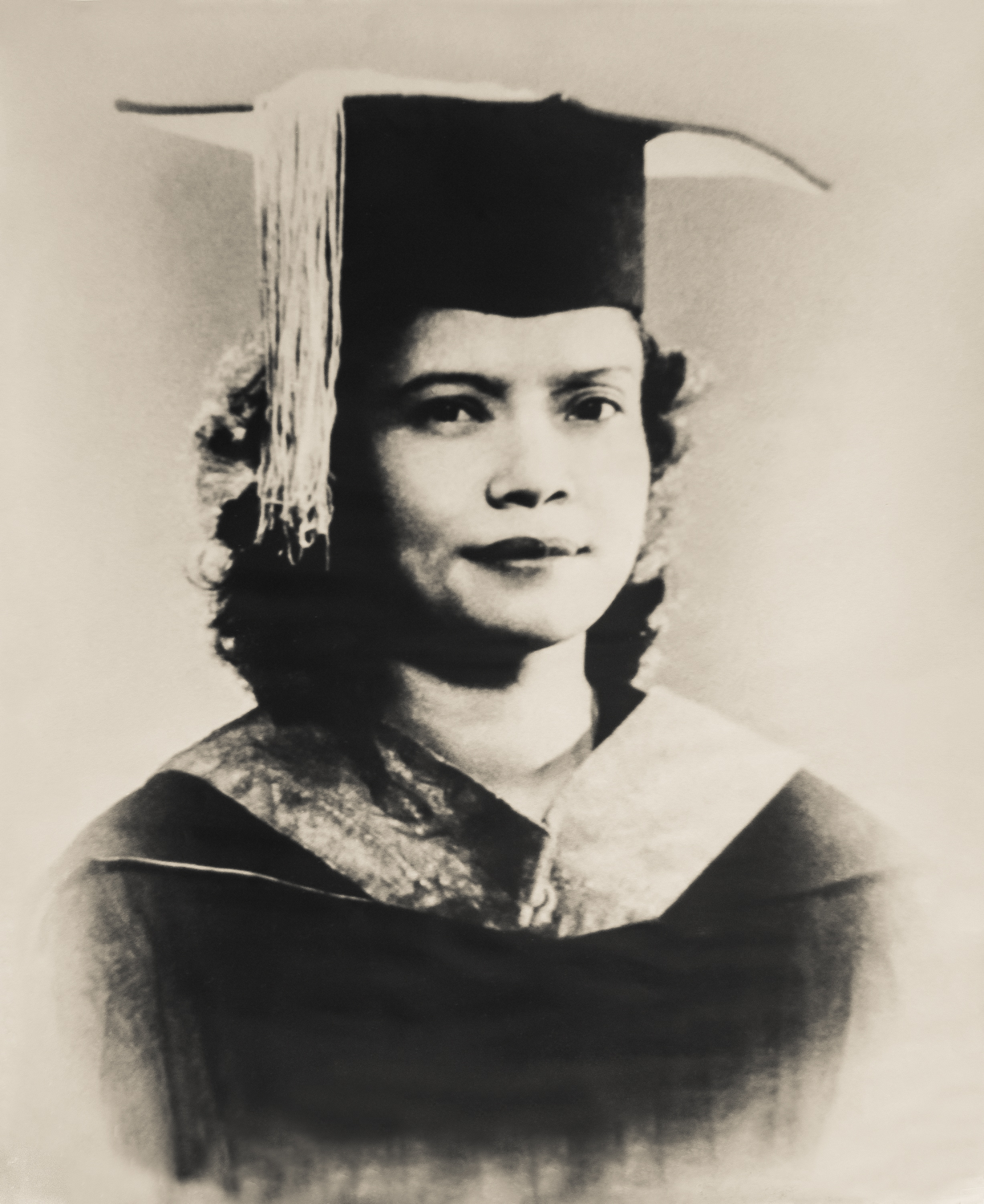 My grandmother's restored graduation portrait, photographer unknown ...