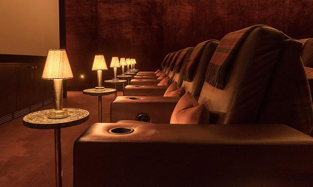 Relax in the @theadaremanor cinema. Interiors by @kimpartridgeinteriors #cinemainteriors #interiordesigner #adaremanor #cinema #interiors #luxuryinteriors #kimpartridge