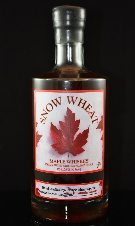 SNOW WHEAT MAPLE WHISKEY - 35%abv / 70 proofNORTHERN NEW YORK IS KNOWN FOR ITS ABUNDANT HARVESTS, BUT NONE SO REVERED AS ITS FAMOUS MAPLE SYRUP. WE HAVE TAKEN OUR SNOW WHEAT WHISKEY AND BLENDED IT WITH JUST ENOUGH PURE MAPLE TO CREATE A DELICIOUS, NOT TOO SWEET, 70 PROOF SPIRIT. ENJOY SIPPING OVER ICE OR ADD TO ANY NUMBER OF YOUR FAVORITE HOLIDAY RECIPES.