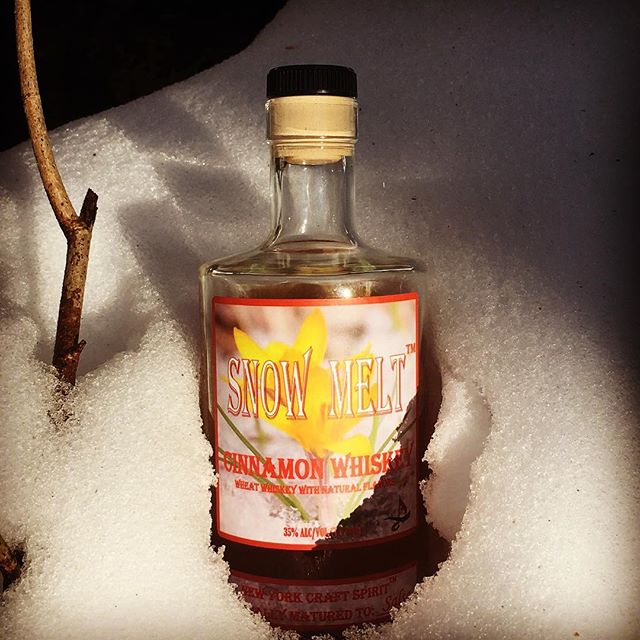 Best served chilled #whiskey #craftspirits #winter #1000islands