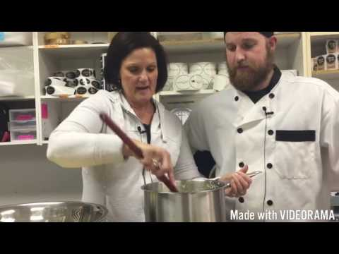 There's my mom, Lisa, cooking on our Youtube channel: The Pop Shop Show!