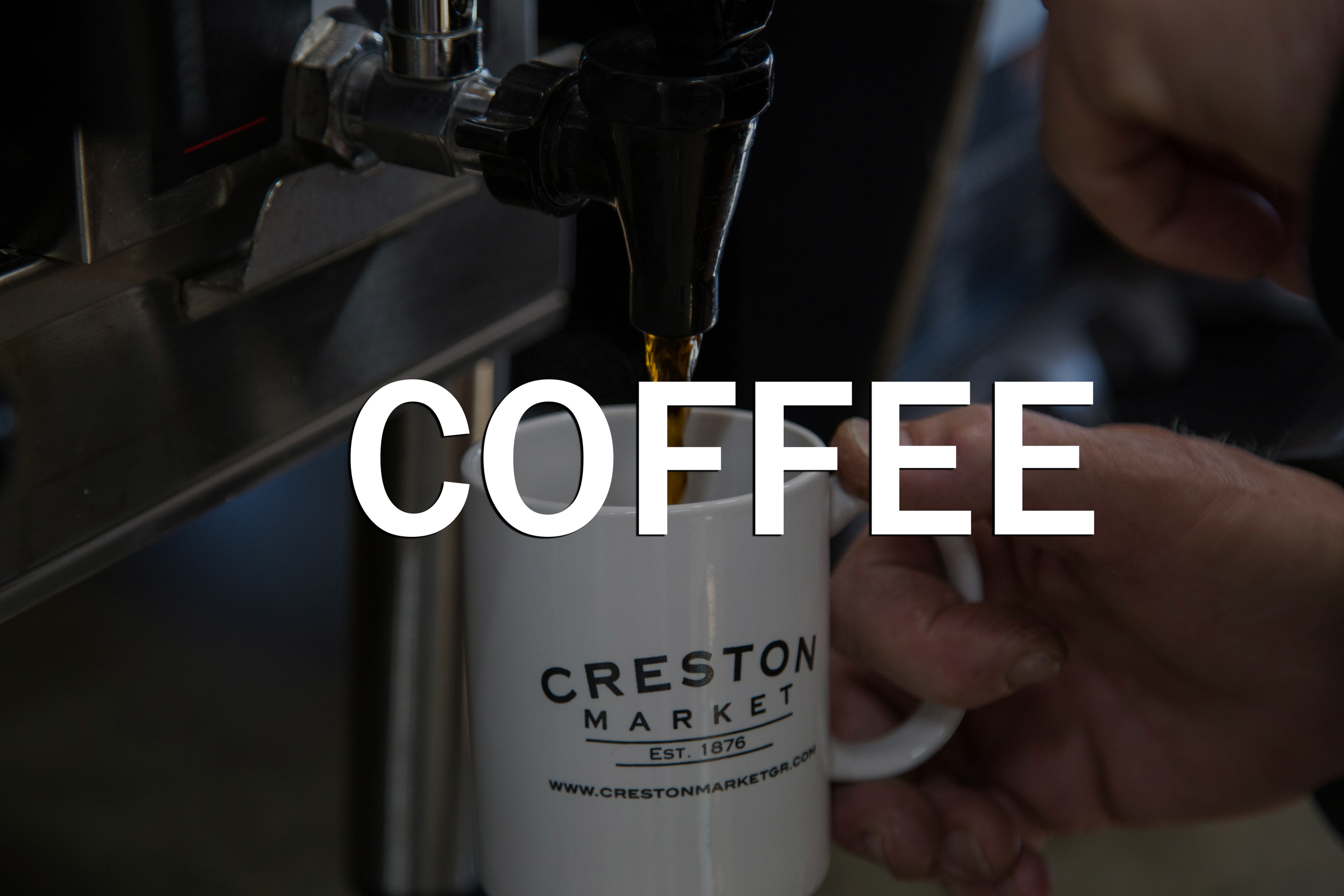 <p><strong></strong>Black, with cream, or a little bit of sugar- the Creston Market blend is just right.<a href=http://www.crestonmarketgr.com/coffee> Fill 'er up →</a></p>
