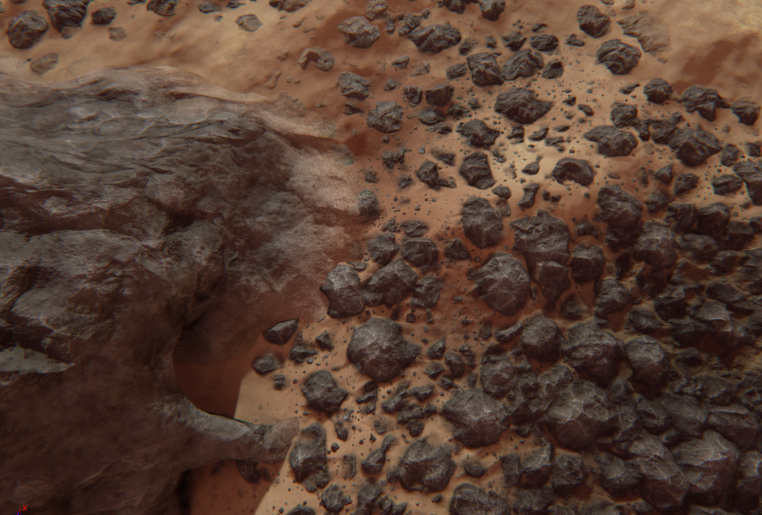 MORPHSCAPE: Sand material blending & hooking up the dream sequence