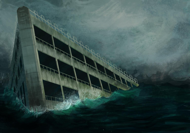 sinking-ship-parking-garage