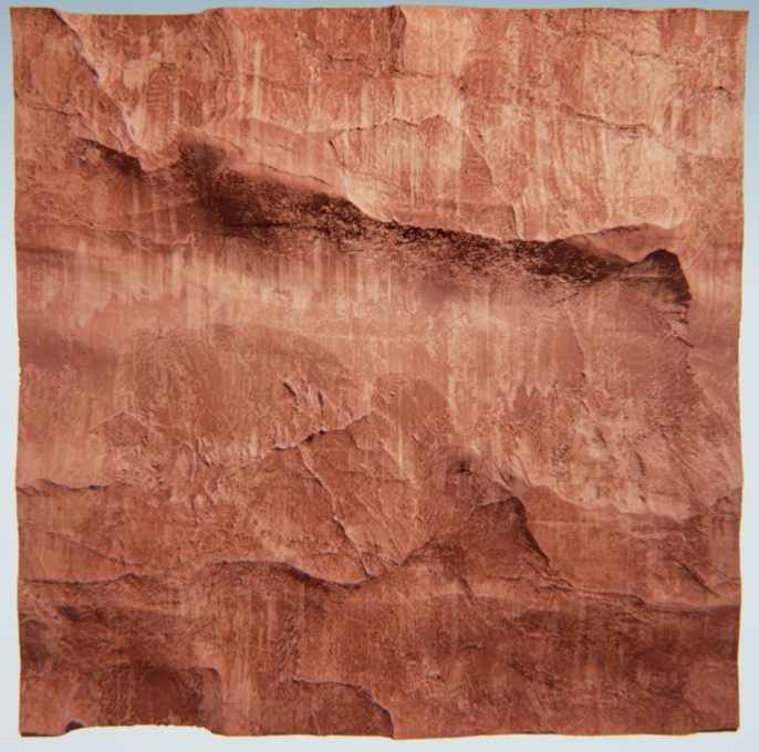 This rock material exemplifies the characteristics I saw in a lot of the rock structures I saw at the Arches national park.