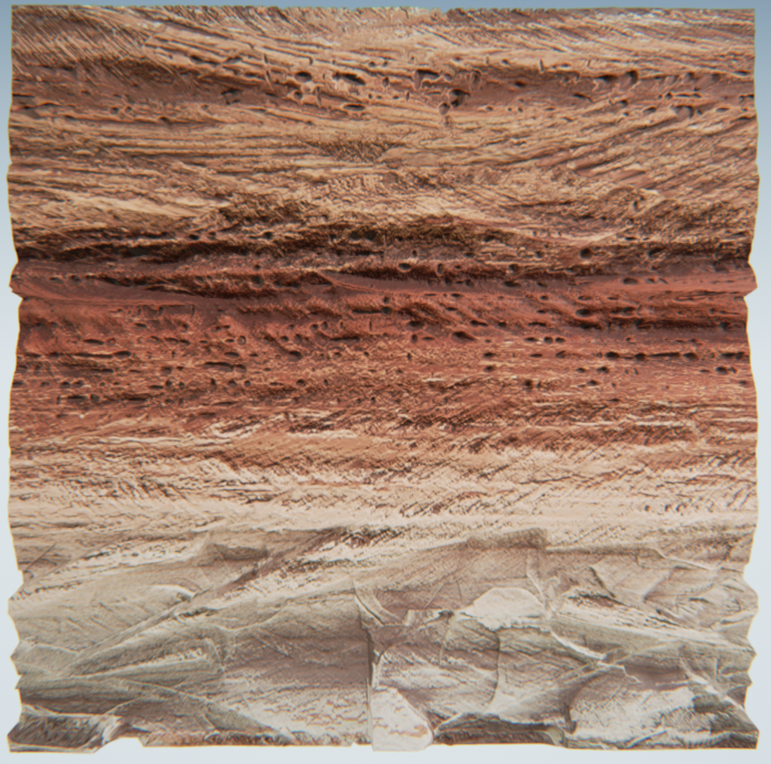 This rock is from Glen Canyon/Lake Powell. With its distinctly different colors and variety in texture, it was one of my favorite rocks on the trip.