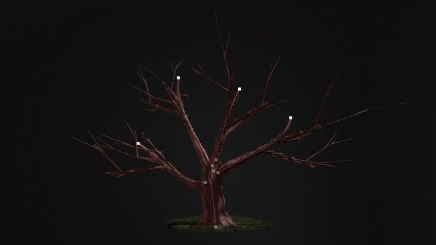 Procedural spline tree Blueprint system (UE4)