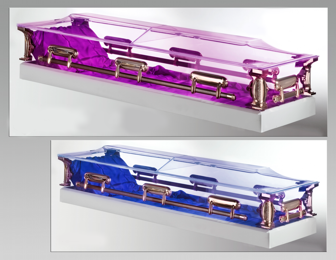 * Choose from 20 different color combinations to illuminate the interior of the casket.