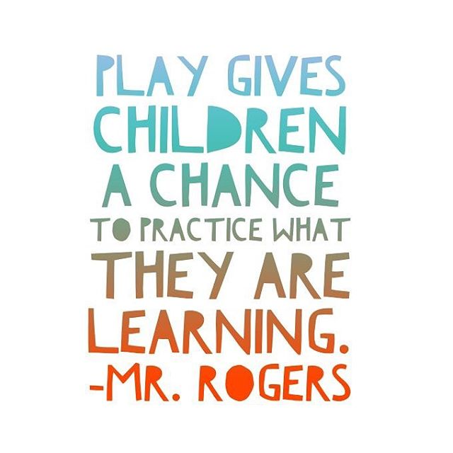 Love this quote! Crosskid Nation believes in the power of play! . . . #crosskidnation #mrrogers #vbs #praiseandworship #worship #youthgroup #sundayschool #family