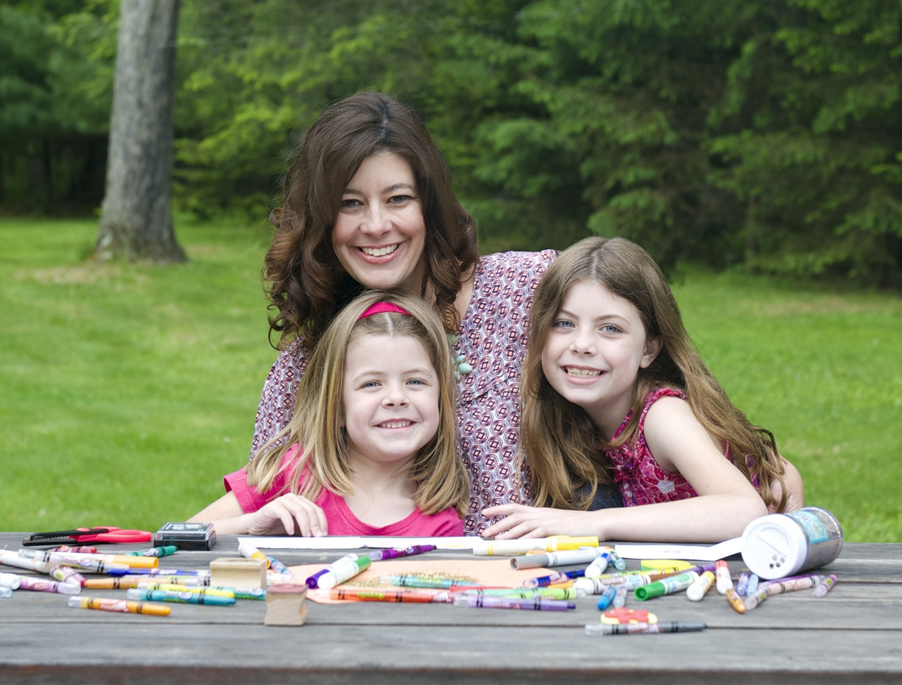 Jennifer Dahl Domaracki and daughters Katie and Ellia., Photo by Kristen Rath Photography