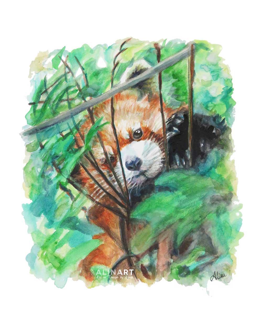 Peek-a-Boo , 2015, Watercolor on paper
