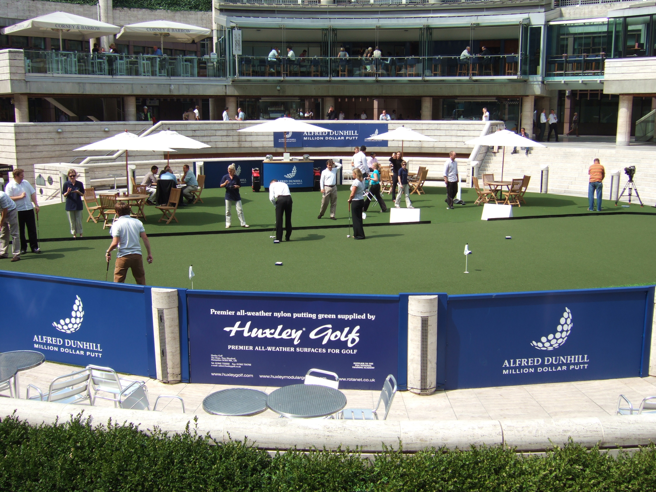 Putting Green for Corporate Promotion, Broadgate Circle, London.jpg