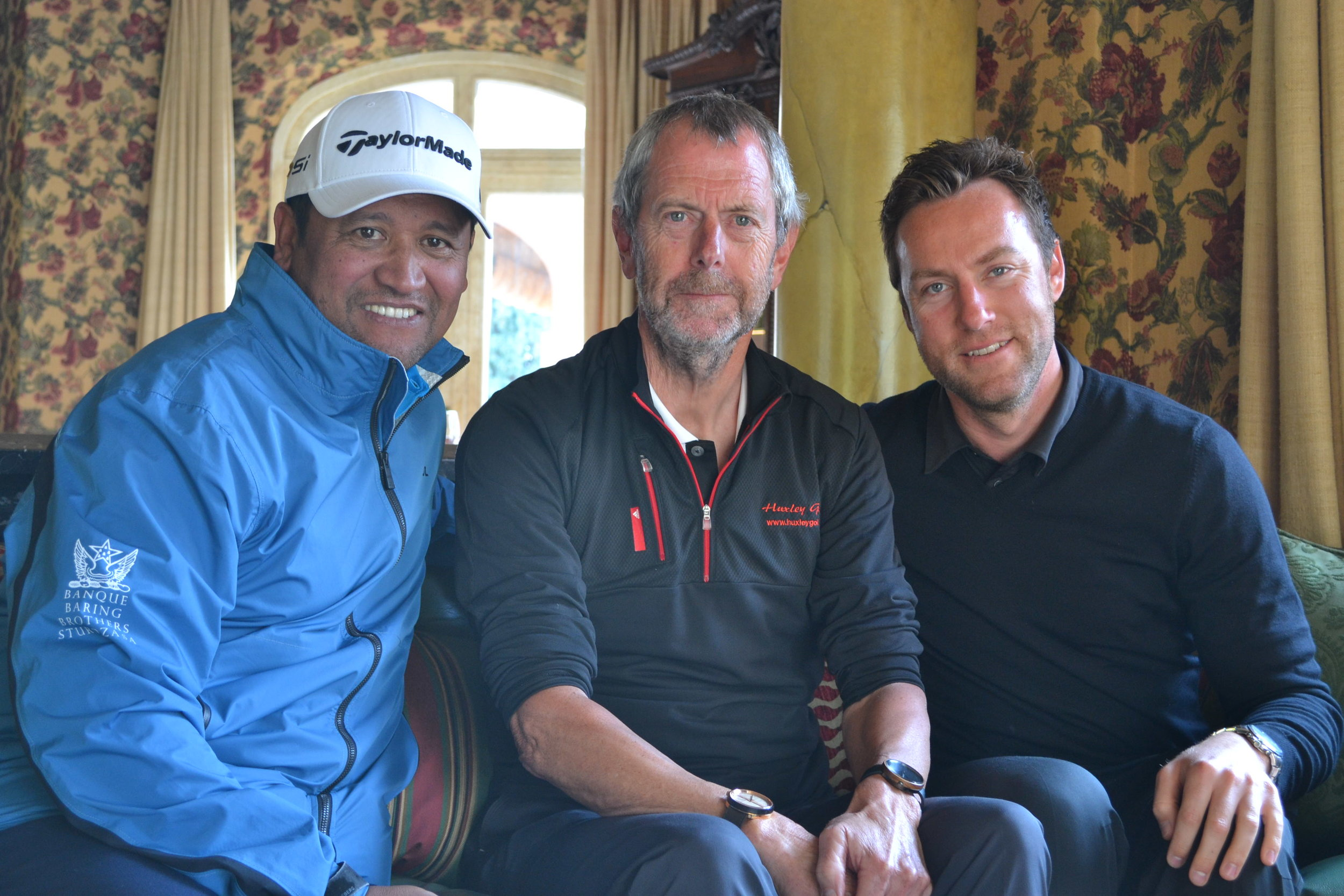 US Open winner 2005 Michael Campbell, Lars Aarup and Academy director Steven Palmer.