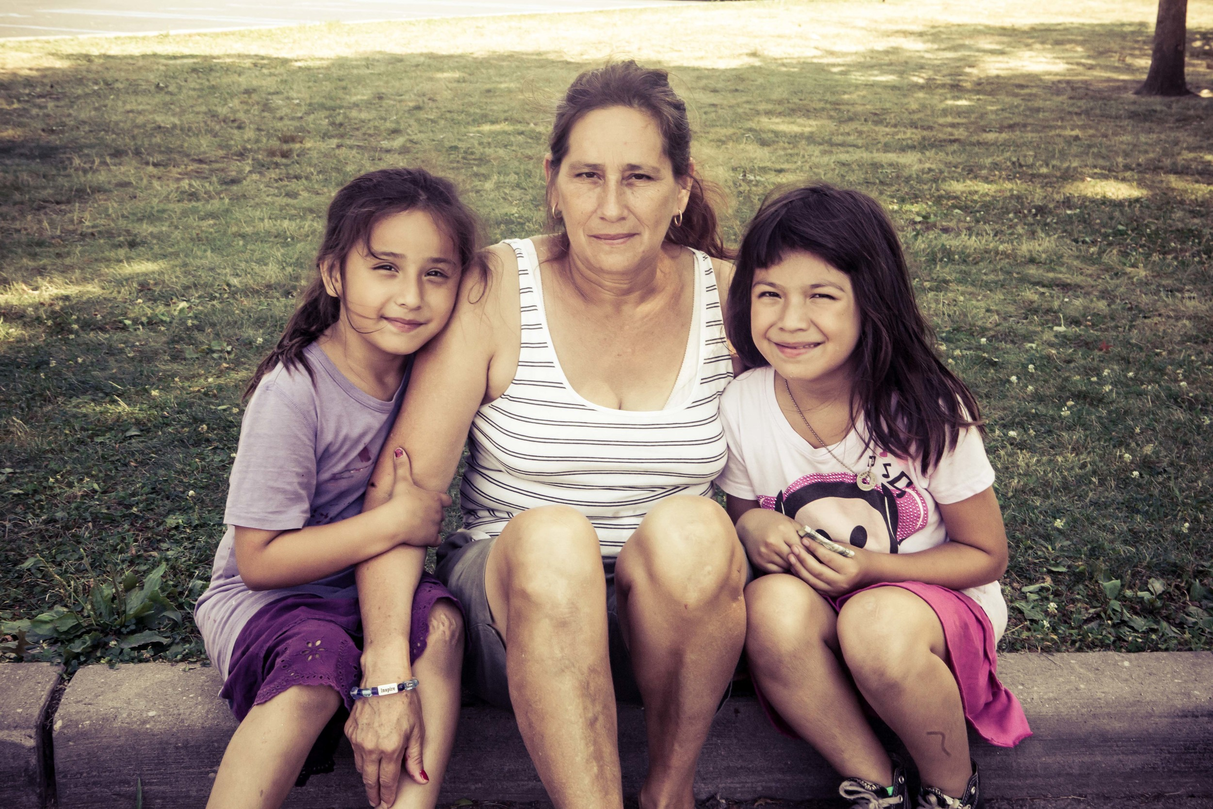 Ashley, their mother, and Diana