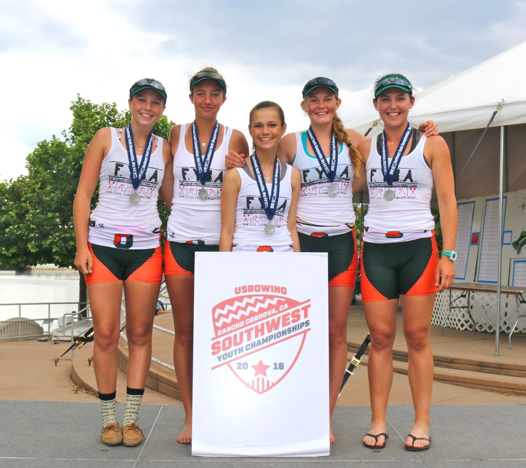 Women's Varsity 4+ earning a trip to the Youth National Championships