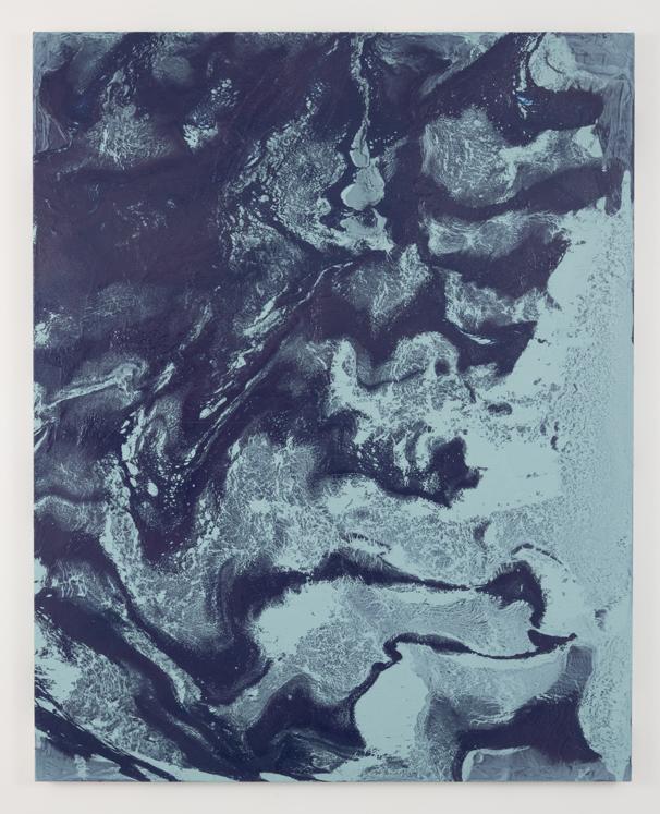"Drift Palace, 2014 enamel and acrylic on canvas 48"" x 60"""