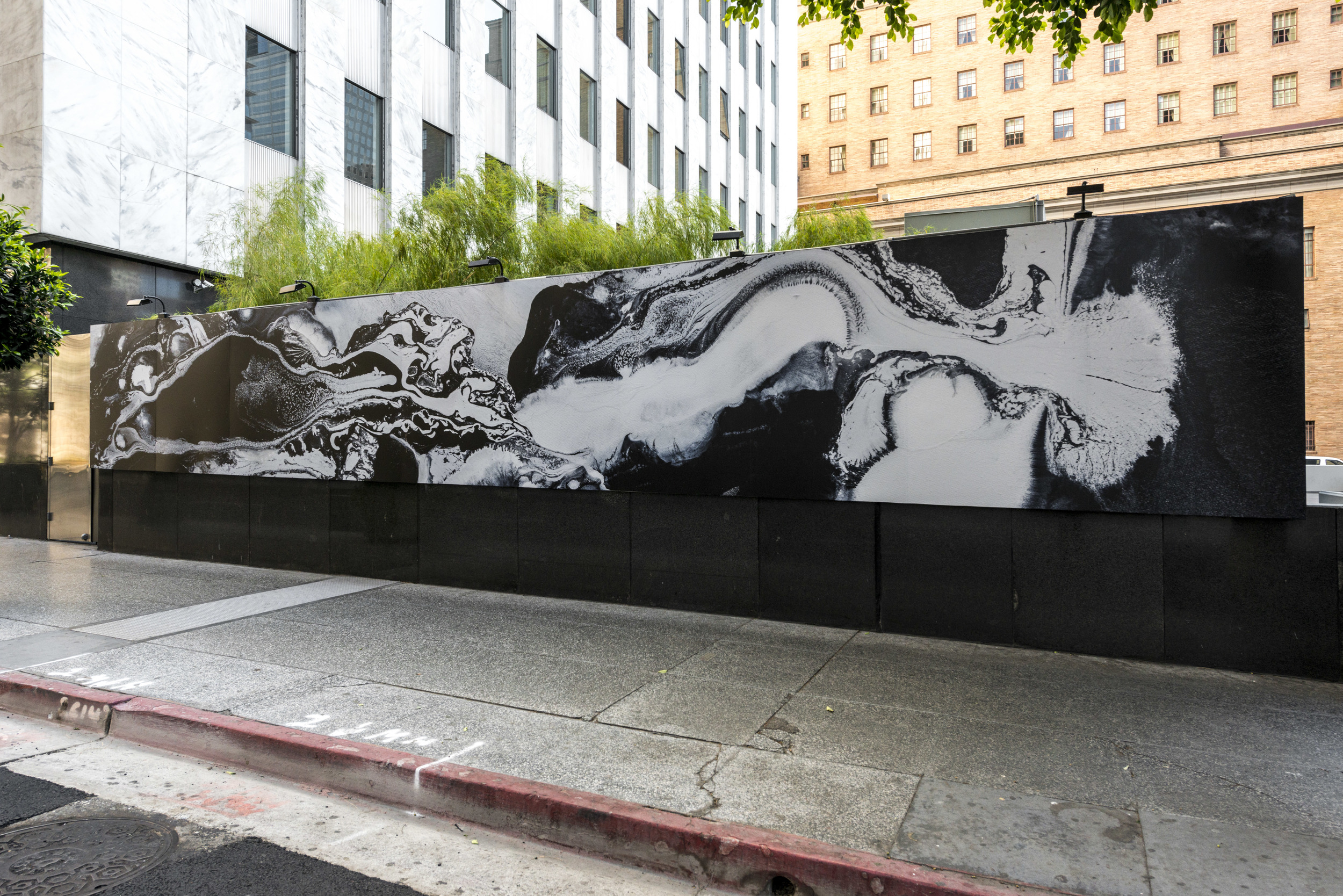 Dark Wave (Phase Transition),  Installation views, mural at the Standard Hotel, Los Angeles, 2013 photos by Joshua White