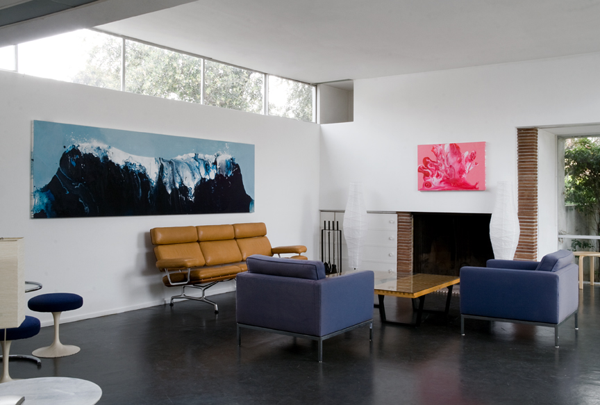 Peak and Flow,  Installation views, Country Club at the Rudolph SchindlerBuck House, Los Angeles, 2010 photos by Heather Rasmussen