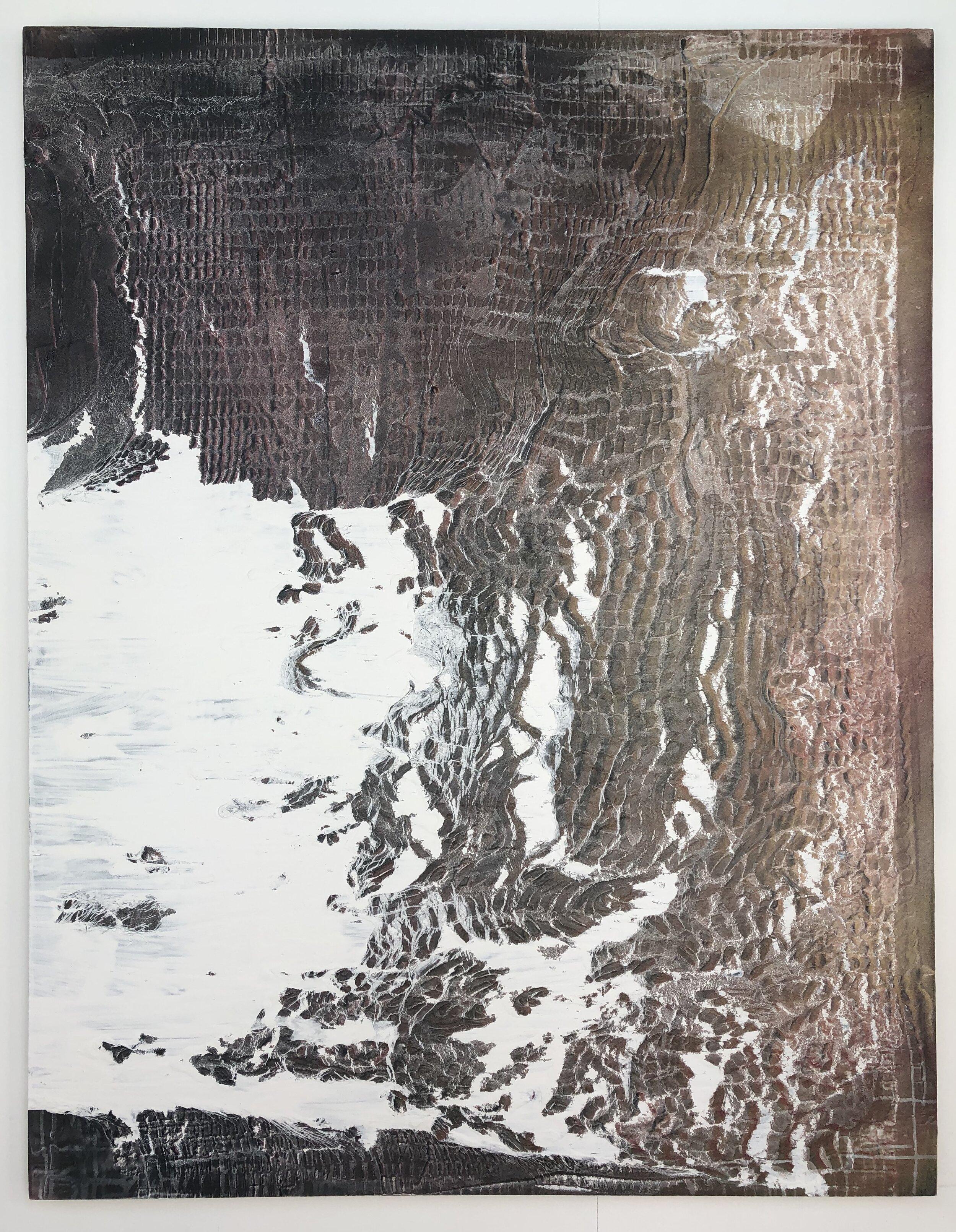 "Autonomy , 2019 acrylic and enamel on canvas 54"" x 42"""