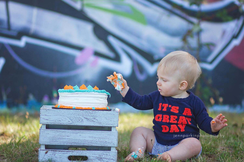 Powell River Photographer, Powell River Cake Smash
