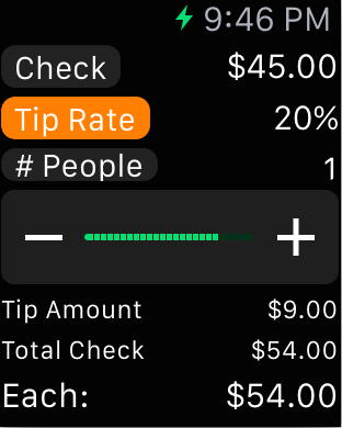 Select Tip Percentage