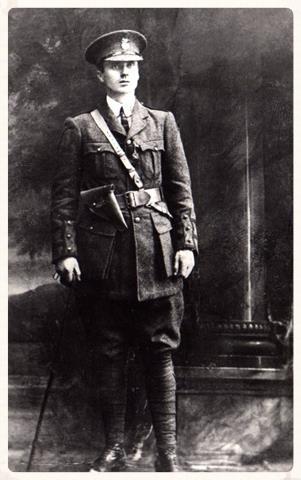 Tom in his Irish Volunteers Captain's uniform.