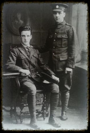 John and Thomas O'Connor in Irish Volunteer uniform.