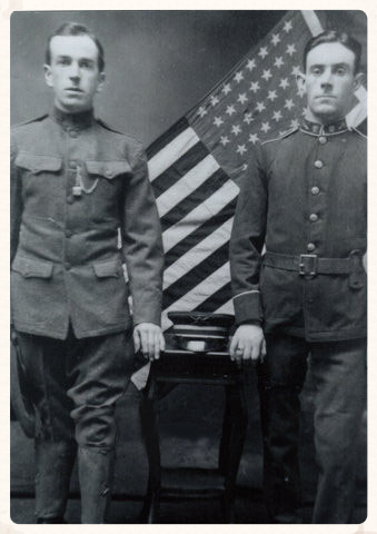 Patrick Rankin (left) in his Philadelphia National Guard's uniform, 1914.