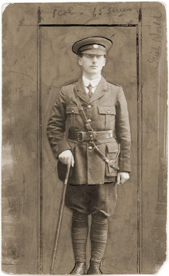 Jack Shouldice in his Irish Volunteers uniform.