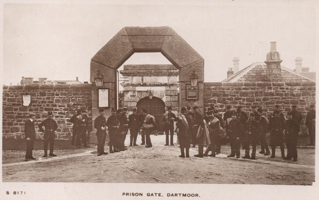 The prison gate at Dartmoor.