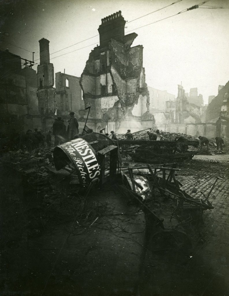 Dublin in ruins after the 1916 Easter Rising.
