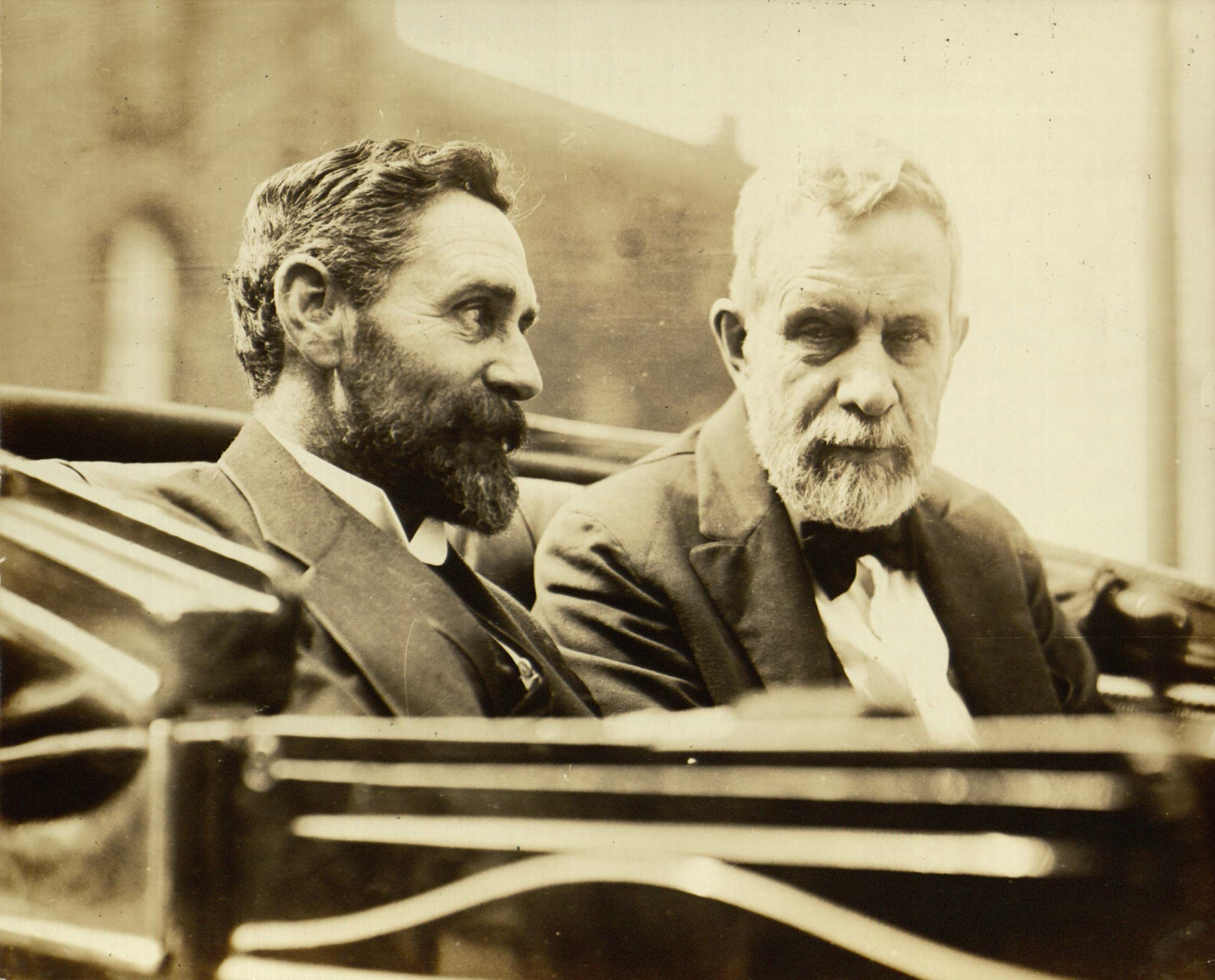Roger Casement (left) with Clan na Gael leader John Devoy (right).