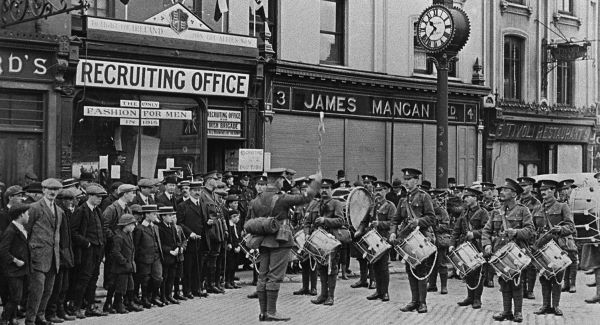 Army Recruiting Office in Cork, where Albert enlisted.