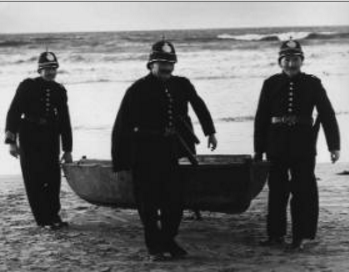RIC men recover the dinghy from Banna Strand