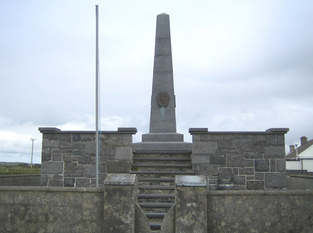 A memorial on the spot where Monteith landed in Kerry