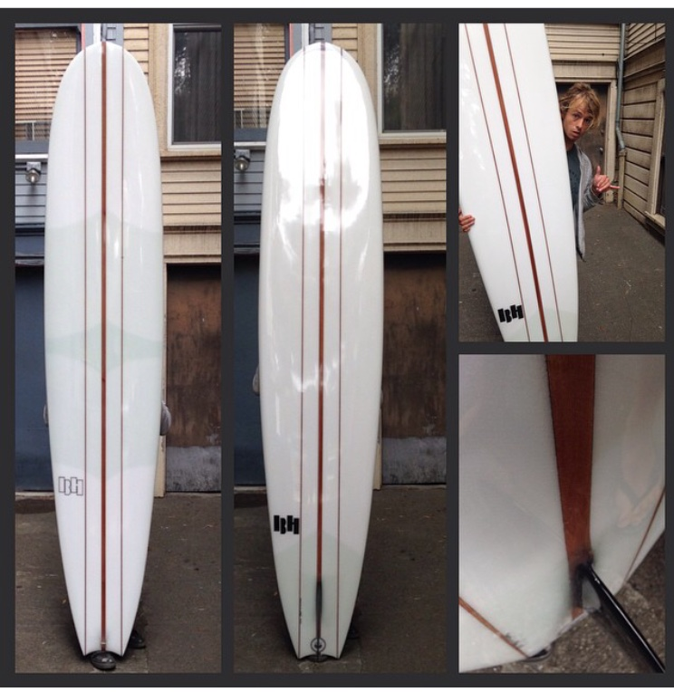 "9'2    3/4"" and 1/8"" redwood triple stringer for Zach"