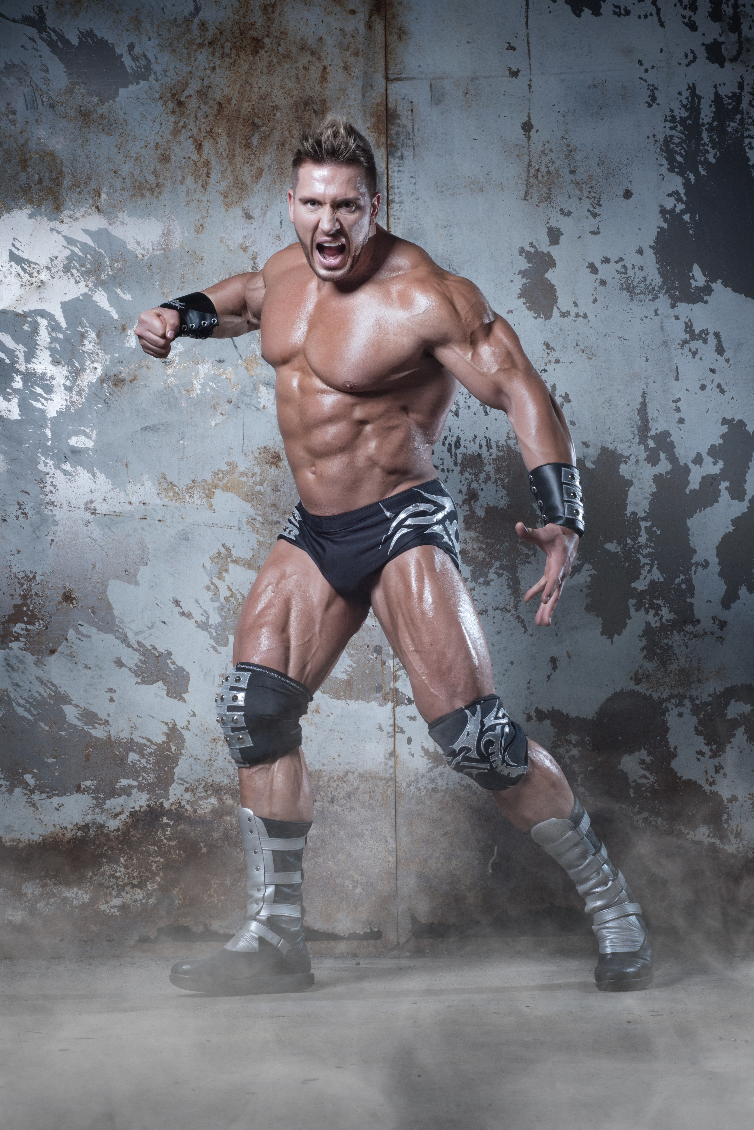 Possibly the greatest physical specimen in the hiostory of pro wrestling; 'The Freak' Rob Terry © Joey Goldsmith.jpg