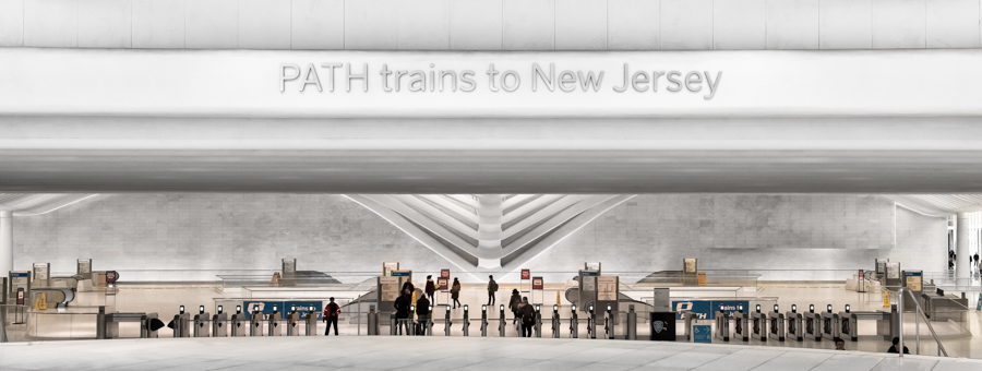 Steven Hromnak - Path Train to New jersey, World Trade Center Station