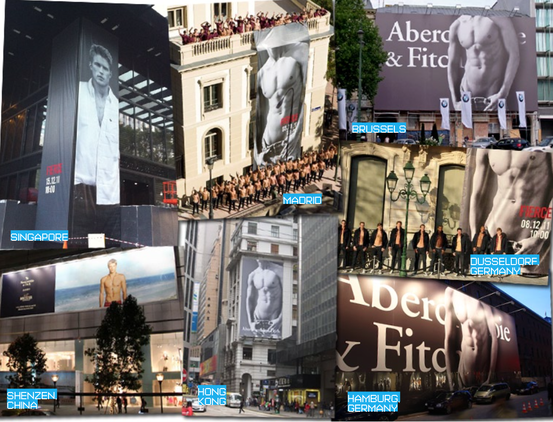 Marketing for store openings in Europe and Asia