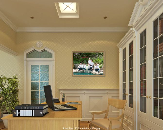 Just Right - 40x30 fits well!The faces can be seen clearly from across the room.