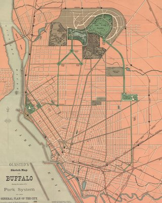 Frederick Law Olmsted's original plan for Buffalo's park system (Source: PBS)