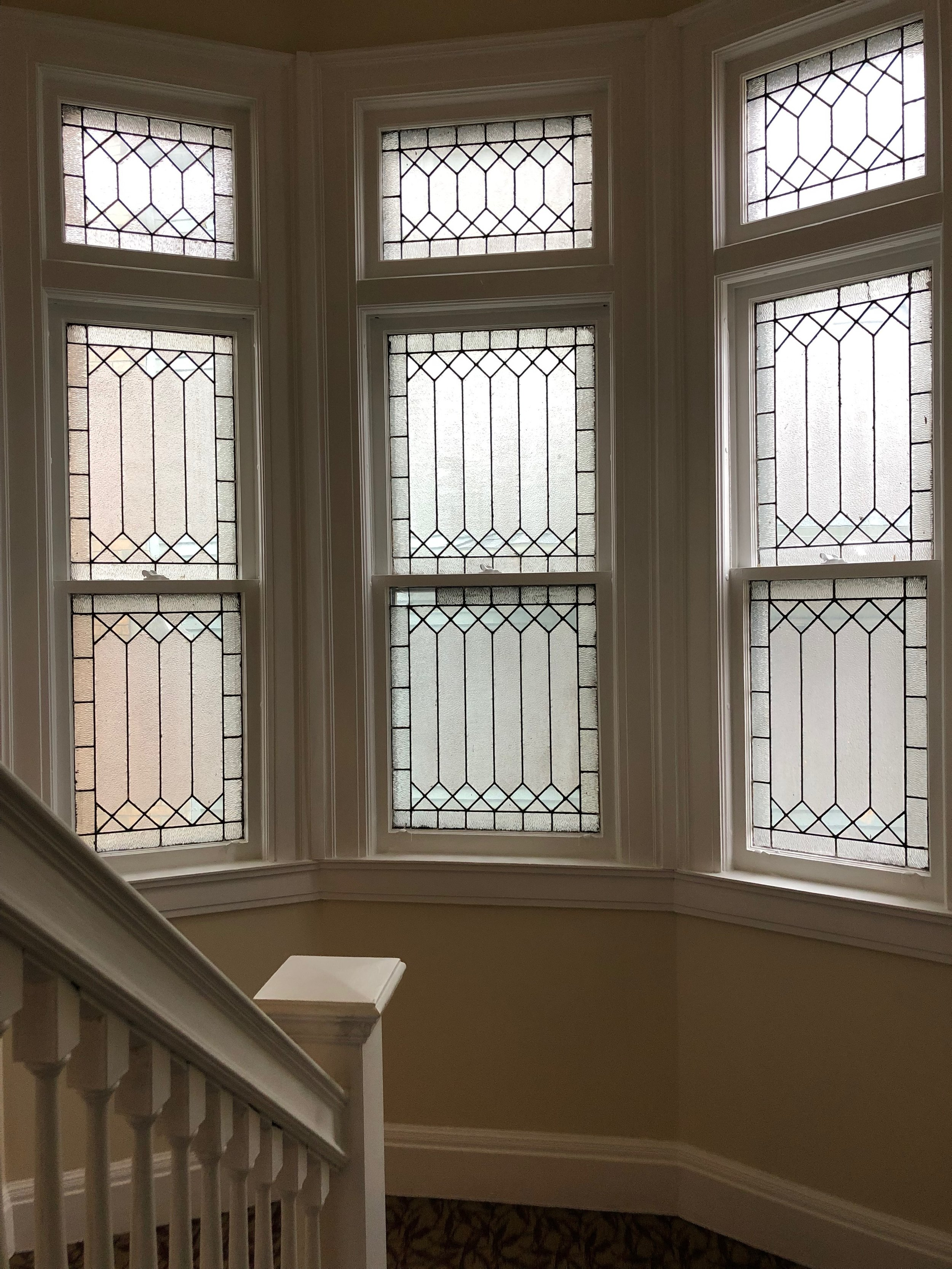 Original Etched-Glass Windows