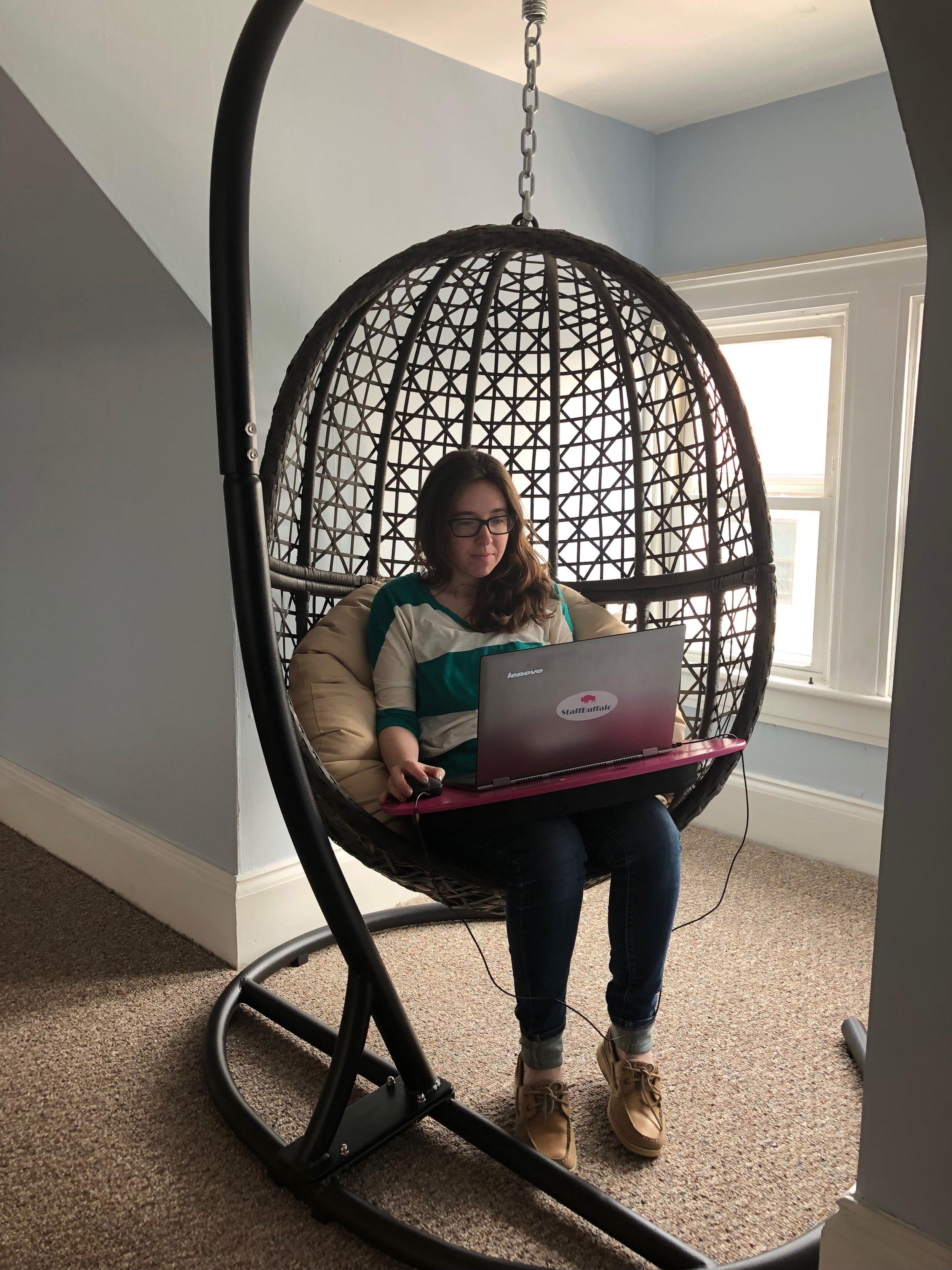 """""""Egg Chair"""" on the 3rd Floor"""
