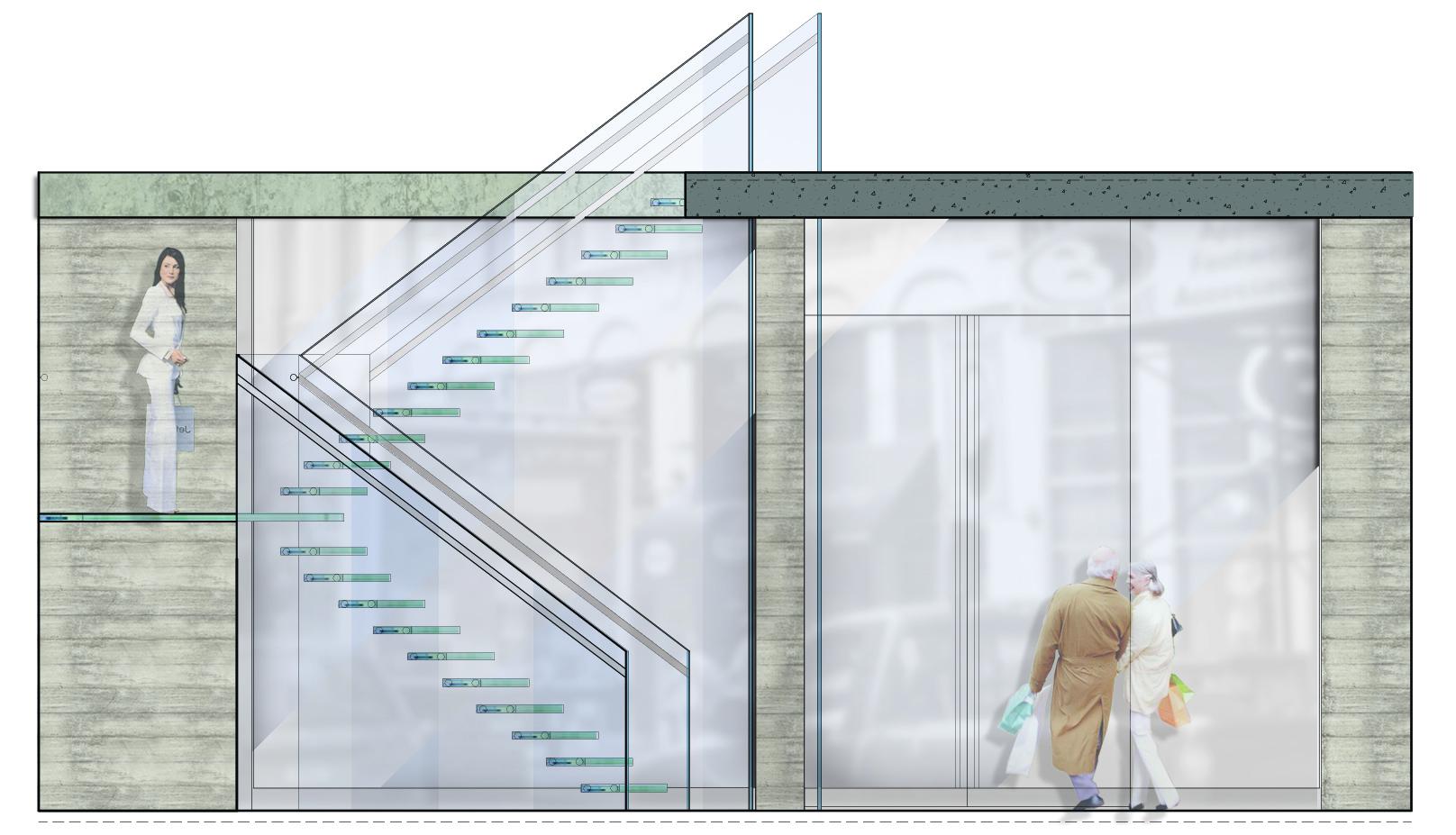 Bond NoHo Hotel, Staircase
