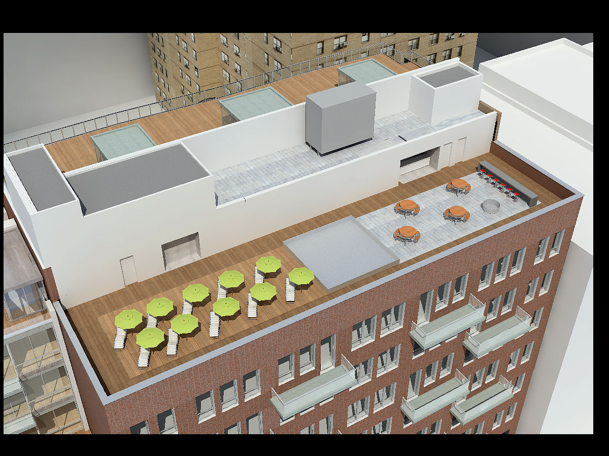 418 West 25th Street, Roof Level Top View